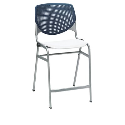 Lundell 25 Bar Stool Color: Navy Blue