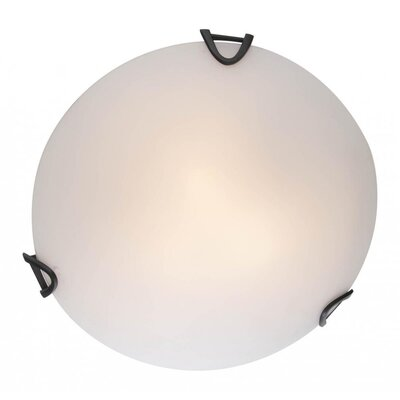 Crisler 2-Light Flush Mount Fixture Finish: Graphite