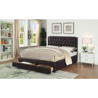 Huffine Queen Upholstered Storage Platform Bed