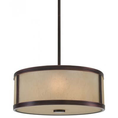 St Philips Marsh 3-Light Drum Pendant Finish: Oil Rubbed Bronze, Size: 7.5 H x 18.5 W x 18.5 D