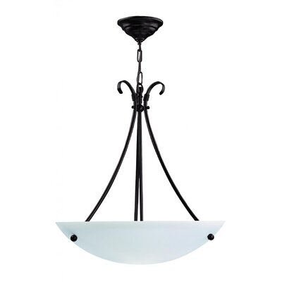Carlucci 3-Light Bowl Pendant Color: Mocha, Size: 21 H x 20 W x 20 D