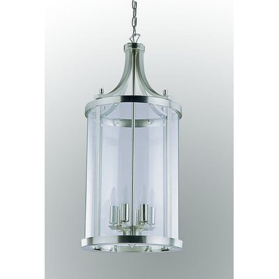 Husman 6-Light Foyer Pendant Finish: Satin Nickel