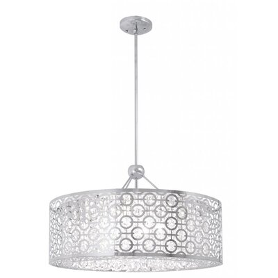 Hering 6-Light Drum Pendant Size: 12.5 H x 18.5 W x 18.5 D
