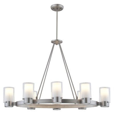Matthies 8-Light Candle-Style Chandelier Fixture Finish: Buffed Nickel