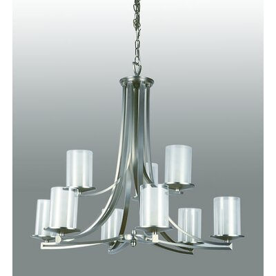 Matthies 9-Light Candle-Style Chandelier Fixture Finish: Buffed Nickel