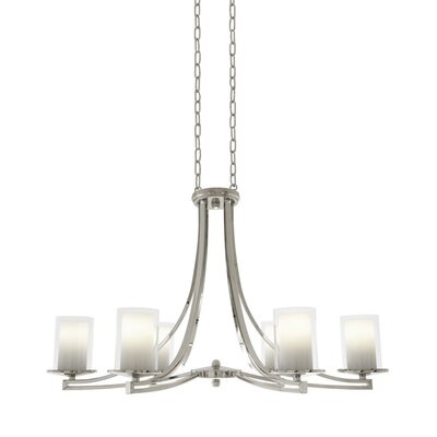 Matthies 6-Light Candle-Style Chandelier Fixture Finish: Buffed Nickel