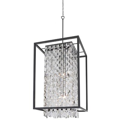 Herkimer 9-Light Foyer Pendant Shade Color: Chrome