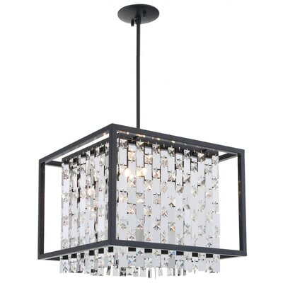 Herkimer 4-Light Drum Pendant Shade Color: Chrome