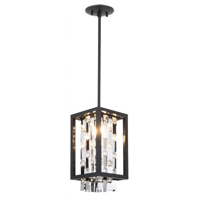Herkimer 2-Light Foyer Pendant Shade Color: Chrome