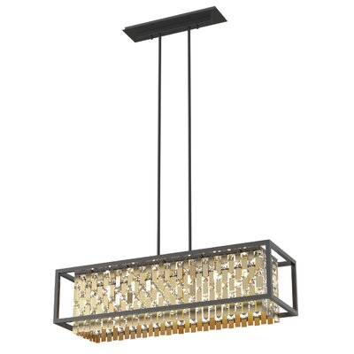 Herkimer 6-Light Kitchen Island Pendant Shade Color: Champagne