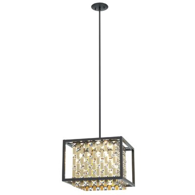 Herkimer 4-Light Drum Pendant Shade Color: Champagne
