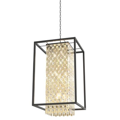 Herkimer 9-Light Foyer Pendant Shade Color: Champagne