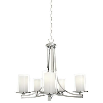 Matthies 5-Light Candle-Style Chandelier Fixture Finish: Chrome