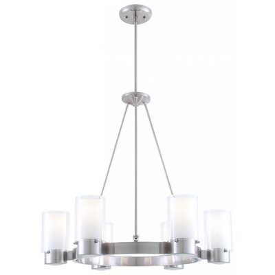Matthies 6-Light Candle-Style Chandelier Fixture Finish: Chrome
