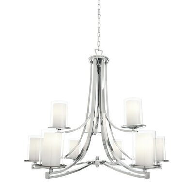 Matthies 9-Light Candle-Style Chandelier Fixture Finish: Chrome