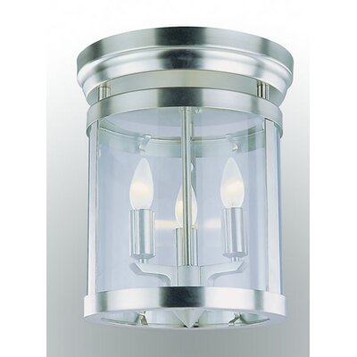 Husman 3-Light Flush Mount Fixture Finish: Satin Nickel