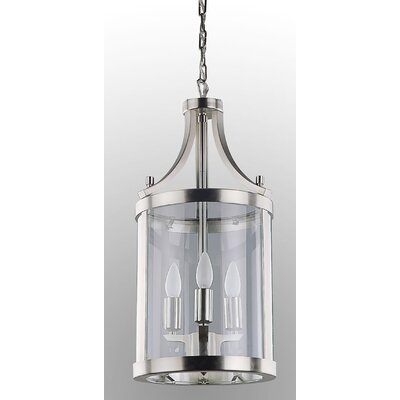 Husman 3-Light Foyer Pendant Finish: Chrome