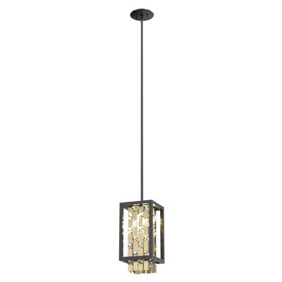 Herkimer 2-Light Foyer Pendant Shade Color: Champagne