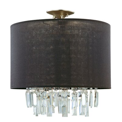 Mills 3-Light Semi Flush Mount Size: 12.75