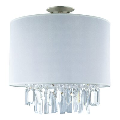 Mills 3-Light Semi Flush Mount Size: 15