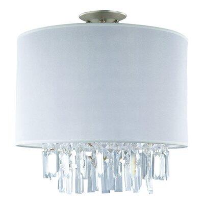 Mills 3-Light Semi Flush Mount Size: 15 H x 16 W x 16 D