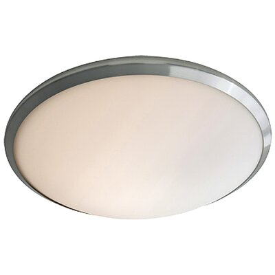 Matthies 1-Light Flush Mount Fixture Finish: Chrome