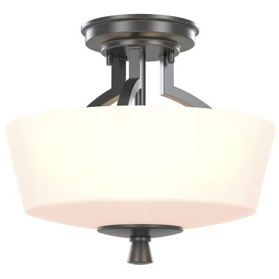Fielder 3-Light Semi Flush Mount Fixture Finish: Graphite