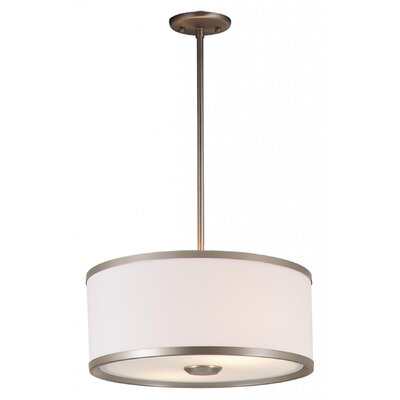 Stadler 3-Light Drum Pendant Finish: Buffed Nickel, Size: 9 H x 22.5 W x 22.5 D