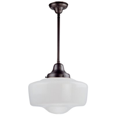 Beckey 1-Light Schoolhouse Pendant Fixture Finish: Oil Rubbed Bronze