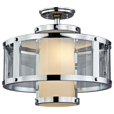 Mattox 2-Light Semi Flush Mount Fixture Finish: Chrome