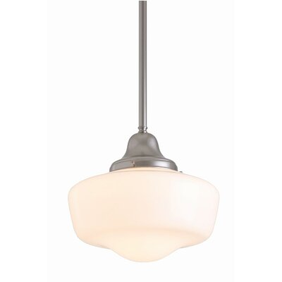 Fleishman 1-Light Schoolhouse Pendant Fixture Finish: Satin Nickel