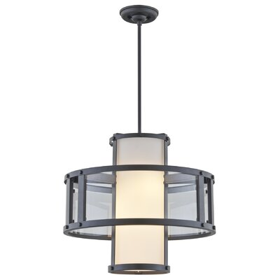Mattox 3-Light Drum Pendant Finish: Graphite