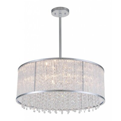 Norris 6-Light Drum Pendant Size: 7.25 H x 18.5 W x 18.5 D
