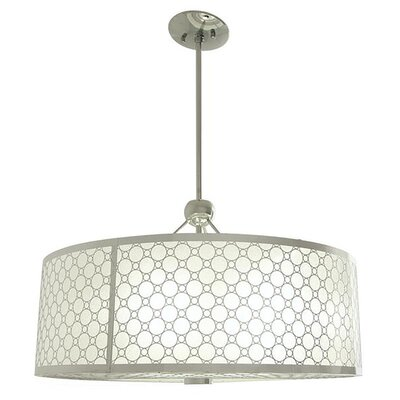 Stahl 3-Light Drum Pendant Size: 11.5 H x 16 W x 16 D