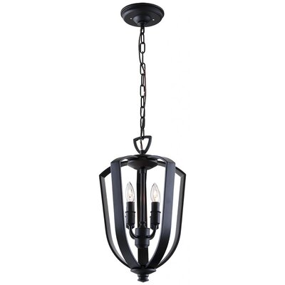 Hust 4-Light Foyer Pendant Finish: Ebony, Size: 21.5 H x 13 W x 13 D