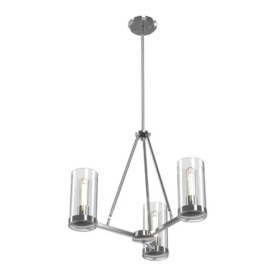 Matthies 3-Light Candle-Style Chandelier Fixture Finish: Chrome