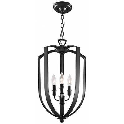 Hust 4-Light Foyer Pendant Finish: Ebony, Size: 15.75 H x 10 W x 10 D