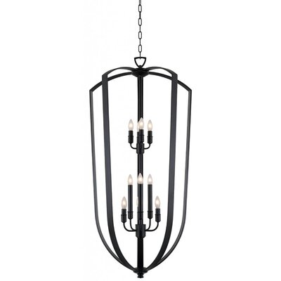Hust 10-Light Foyer Pendant Finish: Ebony