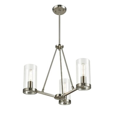 Matthies 3-Light Candle-Style Chandelier Fixture Finish: Buffed Nickel