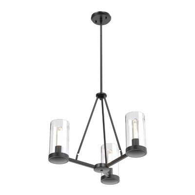 Matthies 3-Light Candle-Style Chandelier Fixture Finish: Graphite