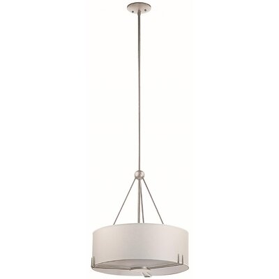 Stagner 3-Light Drum Pendant Finish: Buffed Nickel