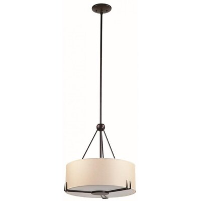 Stagner 2-Light Drum Pendant Finish: Mocha