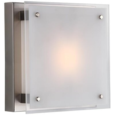 Mattson 1-Light Flush Mount Fixture Finish: Buffed Nickel