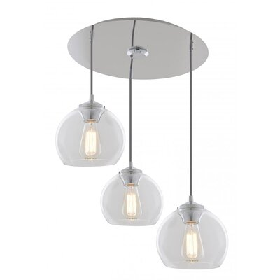 Stalder 3-Light Cluster Pendant Finish: Chrome