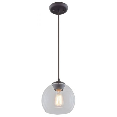 Stalder 1-Light Globe Pendant Finish: Mocha