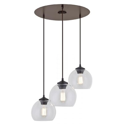 Stalder 3-Light Cluster Pendant Finish: Mocha