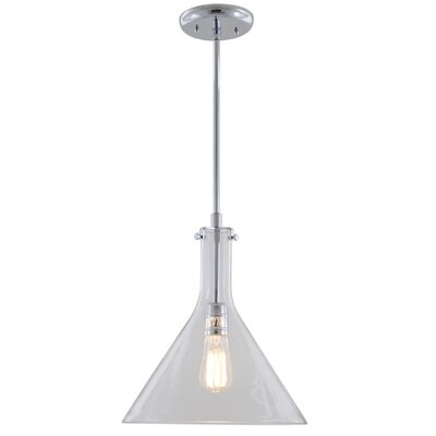 Engelhardt 1-Light Mini Pendant Color: Buffed Nickel, Size: 13.5 H x 12 W x 12 D