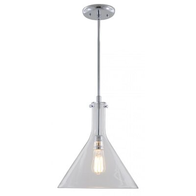 Engelhardt 1-Light Mini Pendant Color: Chrome, Size: 13.5 H x 12 W x 12 D