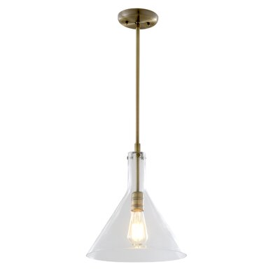 Engelhardt 1-Light Mini Pendant Color: Restoration Bronze, Size: 13.5 H x 12 W x 12 D