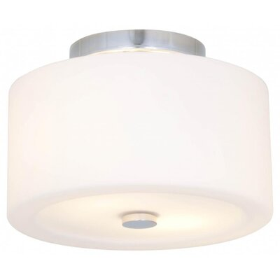 Stahlman 2-Light Semi Flush Mount Fixture Finish: Satin Nickel